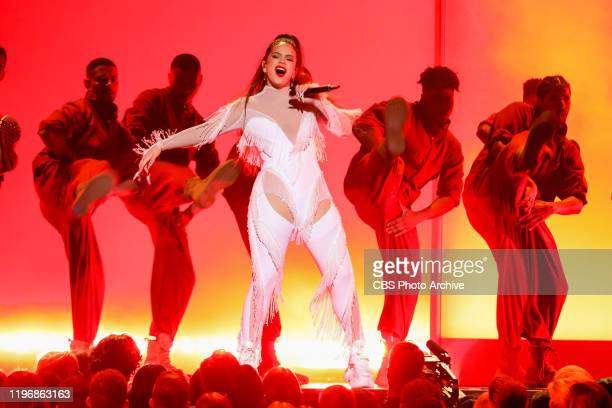 Rosalia performs at THE 62ND ANNUAL GRAMMY® AWARDS broadcast live from the STAPLES Center in Los Angeles Sunday January 26 2020 on the CBS Television...