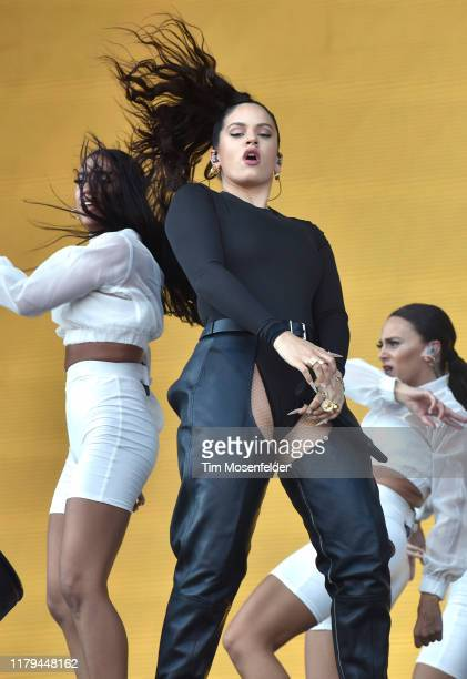 Rosalia performs during the ACL Music Festival 2019 at Zilker Park on October 06, 2019 in Austin, Texas.