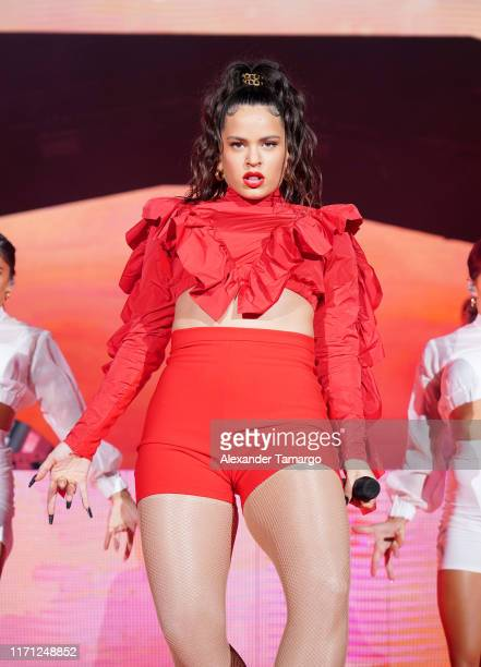 Rosalia performs live on stage during the Spotify ¡Viva Latino Live on August 30 2019 in Miami Florida