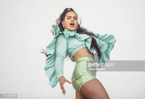 Rosalia performs on stage during MadCool Festival Presentation Party on July 10 2019 in Madrid Spain