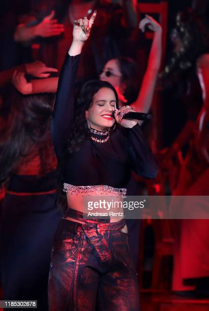 Rosalia performs on stage during the MTV EMAs 2019 at FIBES Conference and Exhibition Centre on November 03 2019 in Seville Spain