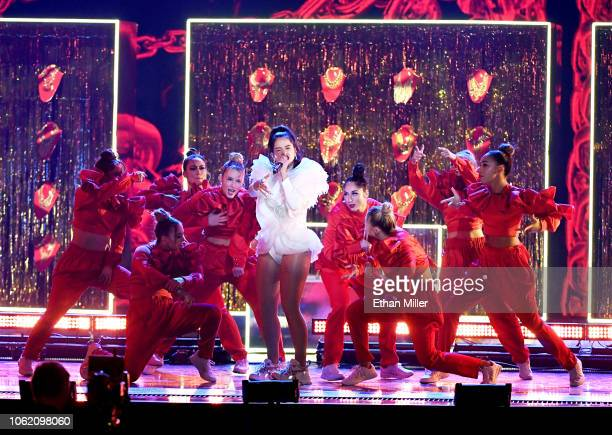 Rosalia performs onstage during the 19th annual Latin GRAMMY Awards at MGM Grand Garden Arena on November 15 2018 in Las Vegas Nevada