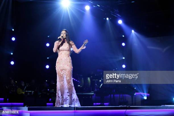 Rosalia performs onstage during the 2017 Person of the Year Gala honoring Alejandro Sanz at the Mandalay Bay Convention Center on November 15 2017 in...