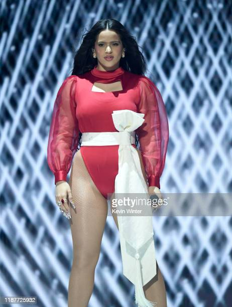 Rosalia performs onstage during the 20th annual Latin GRAMMY Awards at MGM Grand Garden Arena on November 14 2019 in Las Vegas Nevada