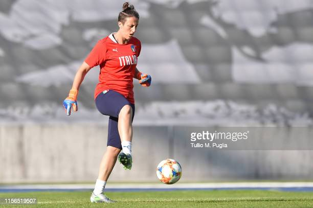 Rosalia Pipitone of Italy Women in action during a training session at Stadium Lille Metropole on June 17, 2019 in in Villeneuve d'Ascq near Lille,...