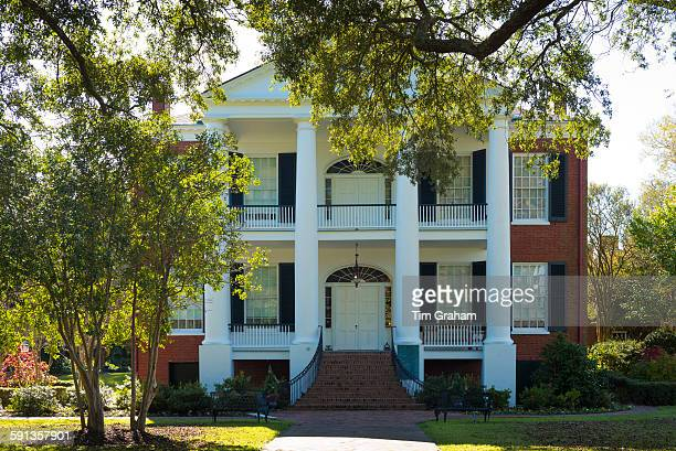 Rosalie 19th Century Greek Revival style antebellum plantation mansion house Natchez Mississippi USA