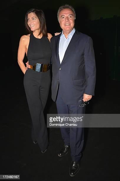 Rosalie Afflelou and Alain Afflelou attend the Stephane Rolland show as part of Paris Fashion Week HauteCouture Fall/Winter 20132014 at Tennis Club...
