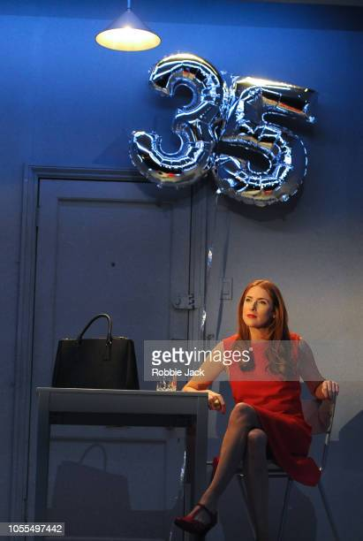 Rosalie Craig as Bobbie in Stephen Sondheim's Company directed by Marianne Elliott at The Gielgud Theatre on October 15, 2018 in London, England.
