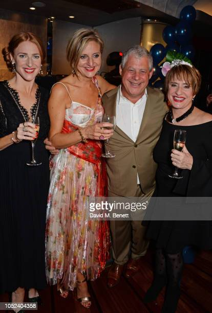 Rosalie Craig Marianne Elliott Sir Cameron Mackintosh and Patti LuPone attend the press night after party for Company at The Prince of Wales Theatre...