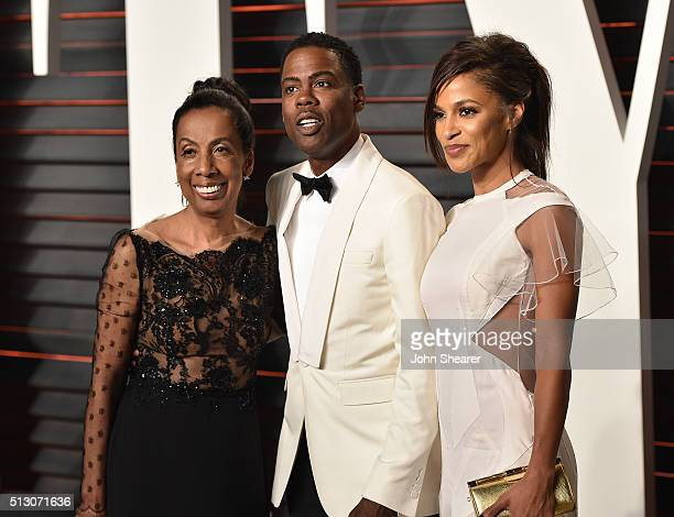 Rosalie Rock comedian Chris Rock and Megalyn Echikunwoke arrive at the 2016 Vanity Fair Oscar Party Hosted By Graydon Carter at Wallis Annenberg...