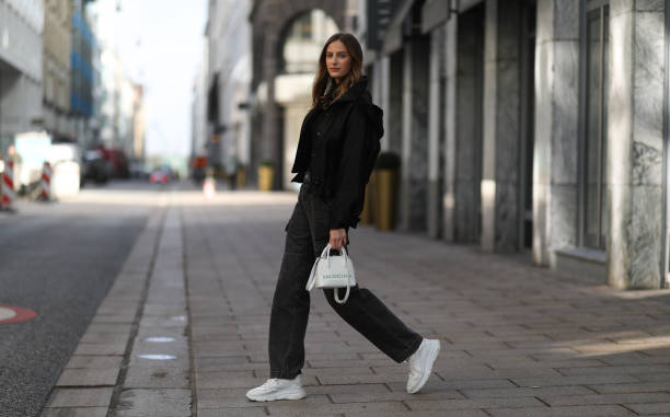 DEU: Street Style - Hamburg - February 19, 2021