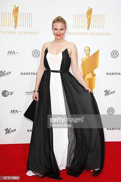 Rosalie Thomass attends the Lola German Film Award 2013 at Friedrichstadt-Palast on April 26, 2013 in Berlin, Germany.