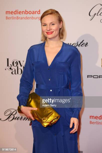 Rosalie Thomass attends the Medienboard BerlinBrandenburg Arrivals during the 68th Berlinale International Film Festival Berlin at on February 17...