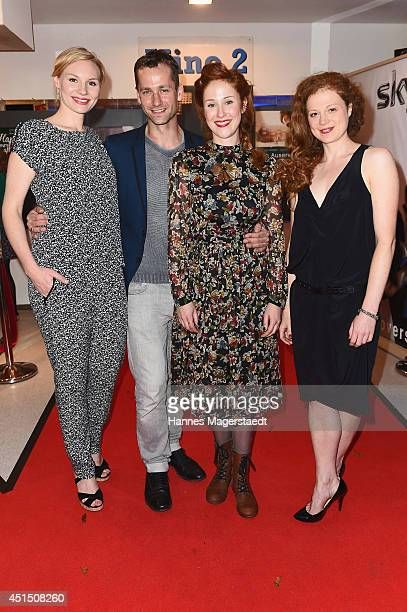 Rosalie Thomass, Florian Stetter, Marlene Morreis and Anja Antonowicz attend the 'Die Frau aus dem Moor' Premiere as part of Filmfest Muenchen 2014...