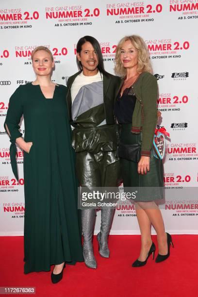 Rosalie Thomass Jorge Gonzalez and Franziska Schlattner during the premiere of Eine ganz heiße Nummer 20 at Mathaeser Kino on September 30 2019 in...