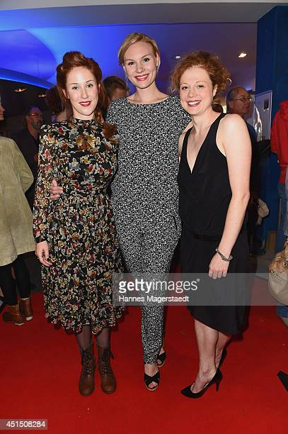 Rosalie Thomass, Marlene Morreis and Anja Antonowicz attend the 'Die Frau aus dem Moor' Premiere as part of Filmfest Muenchen 2014 on June 30, 2014...