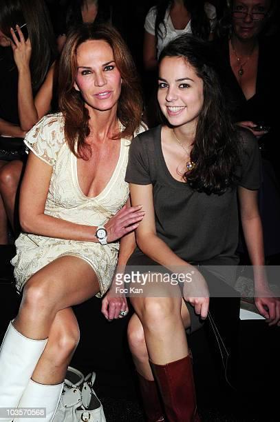 Rosalie Van Breemen and her daughter Anouchka Delon attend the Elie Saab Paris Fashion Week Spring/Summer 2010 at the Espace Ephemere Tuileries on...