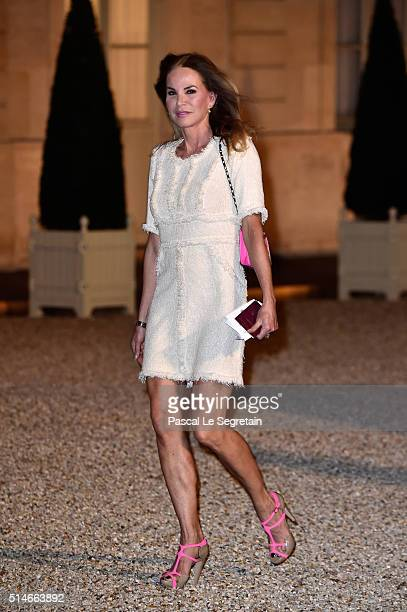 Rosalie van Breemen arrives at The State Dinner in Honor Of King WillemAlexander of the Netherlands and Queen Maxima on March 10 2016 in Paris France...