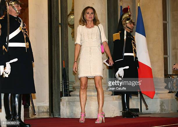 Rosalie van Breemen arrives at The State Dinner in Honor Of King WillemAlexander of the Netherlands and Queen Maxima at Elysee Palace on March 10...