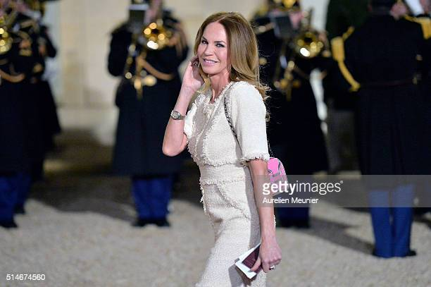 Rosalie Van Breemen arrives to the state dinner given by French President Francois Hollande in honor of Queen Maxima of the Netherlands and King...