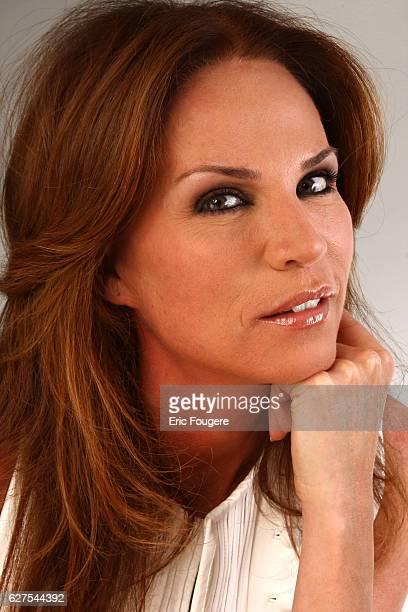 Rosalie Van Breemen on the set of the TV show 'Les Grands du Rire'