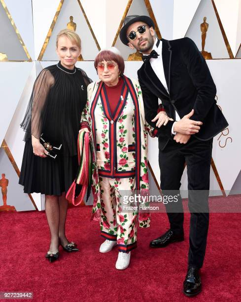 Rosalie Varda Agnes Varda and JR attend the 90th Annual Academy Awards at Hollywood Highland Center on March 4 2018 in Hollywood California