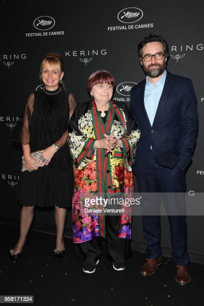 Rosalie Varda Agnes Varda and Mathieu Demy attend the Women in Motion Awards Dinner presented by Kering and the 71th Cannes Film Festival at Place de...