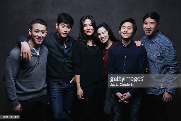 Rosalina Leigh Esteban Ahn Benson Lee Jessika Van Teo Yoo and In Pyo Cha from the film 'Seoul Searching' pose for a portrait for the Los Angeles...