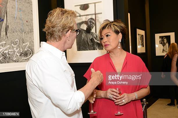Rosalina Lydster attends a gallery exhibit of Terry O'Neill Presents The Opus A 50 Year Retrospective at Mouche Gallery on June 19 2013 in Beverly...
