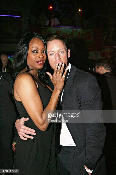 Rosalind Baffoe And friend Lars Bochnik at The After Show Party in Kit Kat Club After The Premiere Basic Instinct 2 in Berlin 220306