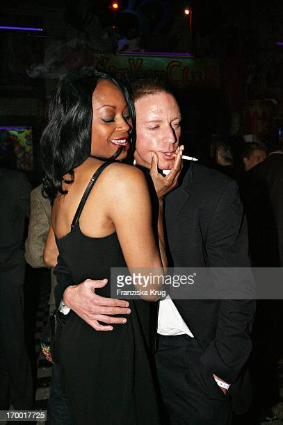 "Rosalind Baffoe And friend Lars Bochnik at The After Show Party in Kit Kat Club After The Premiere ""Basic Instinct 2"" in Berlin 220306."