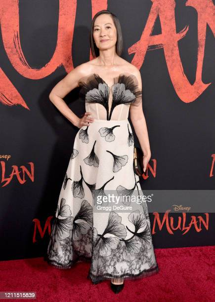"Rosalind Chao attends the Premiere Of Disney's ""Mulan"" on March 09, 2020 in Hollywood, California."