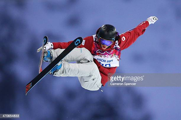 Rosalind Groenewoud of Canada competes in the Freestyle Skiing Ladies' Ski Halfpipe Qualification on day thirteen of the 2014 Winter Olympics at Rosa...