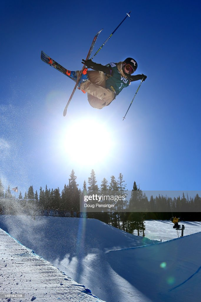 Rosalind Groenewoud of Canada goes airborn during qualification for the ladies Ski Halfpipe FIS Freestyle Ski World Cup at the US Grand Prix on January 9, 2013 in Copper Mountain, Colorado.