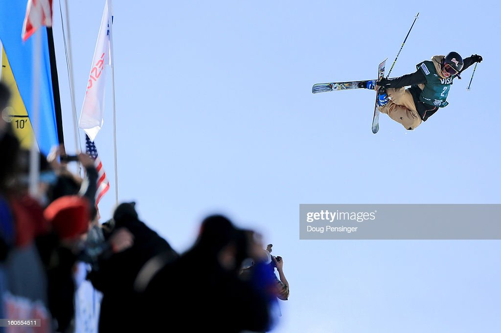 Rosalind Groenewoud of Canada soars above the spectators during the finals of the ladies FIS Freestyle Ski Halfpipe World Cup during the Sprint U.S. Grand Prix at Park City Mountain on February 2, 2013 in Park City, Utah.
