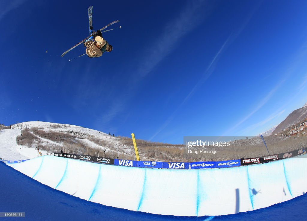 Rosalind Groenewoud of Canada takes a practice run prior to the finals of the ladies FIS Freestyle Ski Halfpipe World Cup during the Sprint U.S. Grand Prix at Park City Mountain on February 2, 2013 in Park City, Utah.