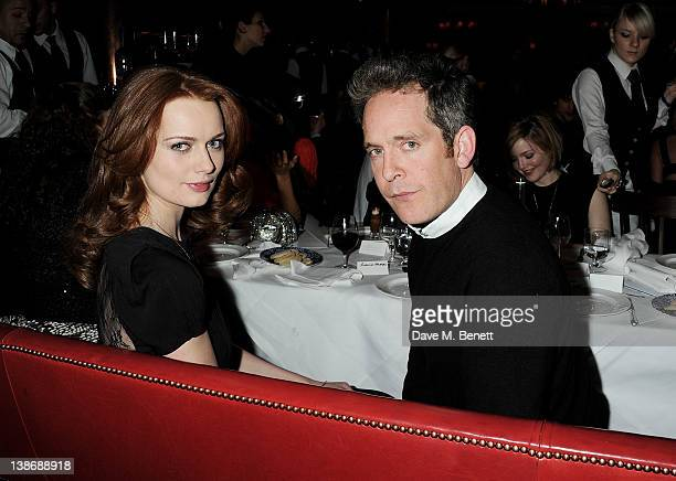 Rosalind Halstead and Tom Hollander attend The Weinstein Company Dinner Hosted By Grey Goose in celebration of BAFTA at Dean Street Townhouse on...