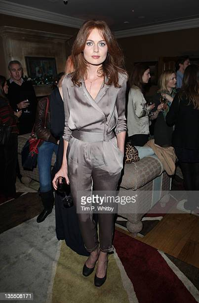 Rosalind Halstead attends a VIP Screening of The Artist at Charlotte Street Hotel on December 11 2011 in London England