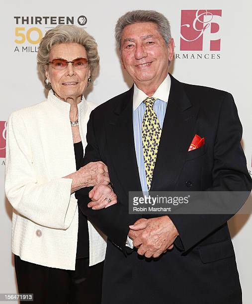 Rosalind P Walter and Jac Venza attend the THIRTEEN 50th Anniversary Gala Salute at David Koch Theatre at Lincoln Center on November 15 2012 in New...