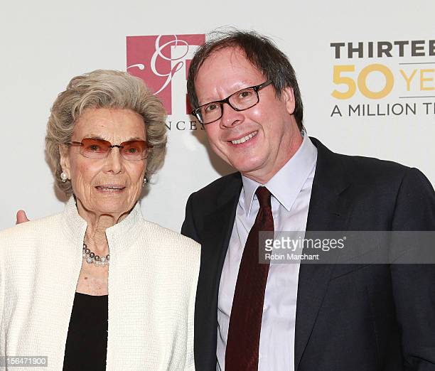Rosalind P Walter and Ric Burns attend the THIRTEEN 50th Anniversary Gala Salute at David Koch Theatre at Lincoln Center on November 15 2012 in New...