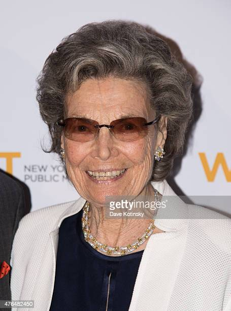Rosalind P Walter attends the 2015 WNET Annual Gala at Cipriani 42nd Street on June 9 2015 in New York City