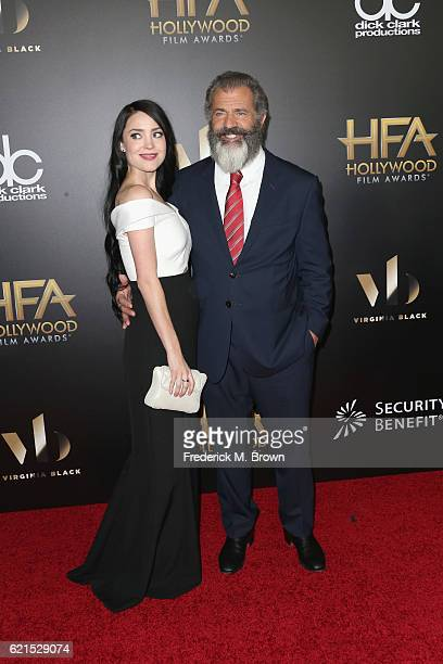 Rosalind Ross and director Mel Gibson attend the 20th Annual Hollywood Film Awards on November 6 2016 in Beverly Hills California