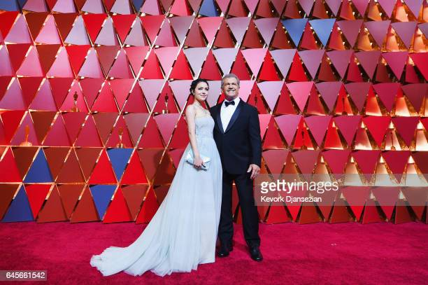 Rosalind Ross and Mel Gibson attend the 89th Annual Academy Awards at Hollywood Highland Center on February 26 2017 in Hollywood California