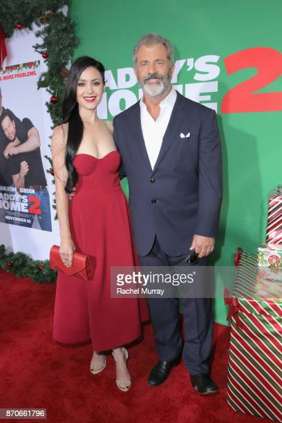 Rosalind Ross and Mel Gibson attend the Los Angeles Premiere of 'Daddy's Home 2' at Regency Village Theatre on November 5 2017 in Westwood California