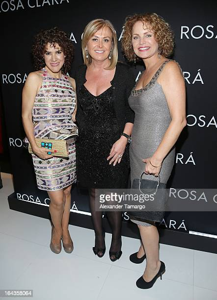 Rosalinda Rodriguez Rosa Clara and Diana Quijano attend the grand opening of Rosa Clara store on March 22 2013 in Coral Gables Florida
