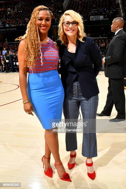 Rosalyn GoldOnwude and Doris Burke pose for a photo prior to Game Three of the 2018 NBA Finals between the Golden State Warriors and Cleveland...