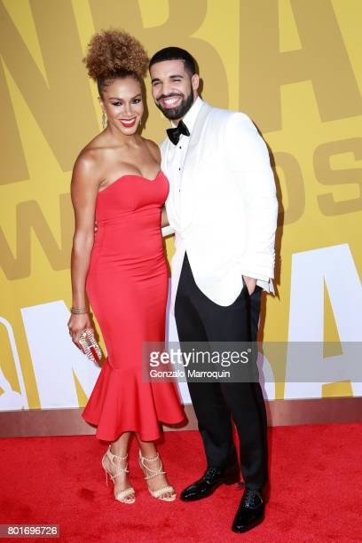 Rosalyn GoldOnwude and Drake attend the 2017 NBA Awards at Basketball City Pier 36 South Street on June 26 2017 in New York City