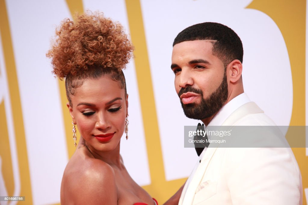Rosalyn Gold-Onwude and Drake attend the 2017 NBA Awards at Basketball City - Pier 36 - South Street on June 26, 2017 in New York City.