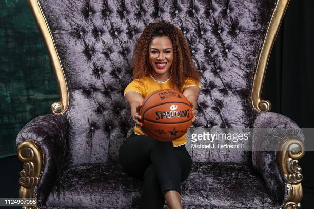 Rosalyn GoldOnwude of NBA TV poses for portraits during the NBAE Circuit as part of 2019 NBA AllStar Weekend on February 14 2019 at the Sheraton...