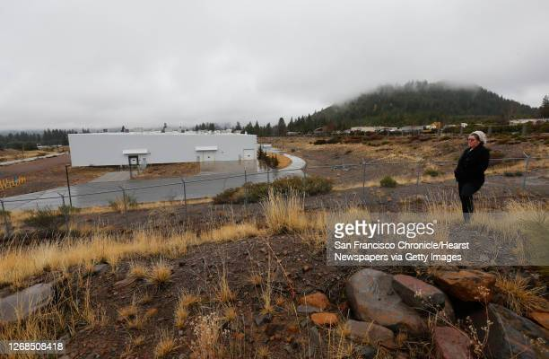 Rosalyn McCoy, on Thursday Feb. 13 a resident of Mt. Shasta City, Calif. Outside the bottling plant that Crystal Geyser plans to use in their...